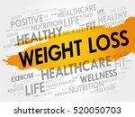 weight loss word cloud collage  ... | Shutterstock .eps vector #520050703