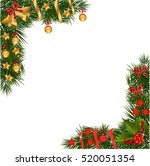 a traditional christmas garland ... | Shutterstock .eps vector #520051354