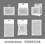 realistic transparent paper or... | Shutterstock .eps vector #520052128