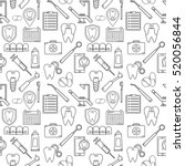 seamless vector pattern in a... | Shutterstock .eps vector #520056844