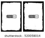 grunge frame texture set  ... | Shutterstock .eps vector #520058014