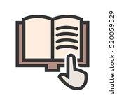 read book | Shutterstock .eps vector #520059529