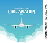 international civil aviation... | Shutterstock .eps vector #520062496