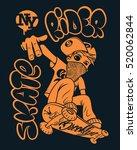 skate rider t shirt graphics... | Shutterstock .eps vector #520062844
