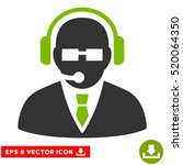 support manager eps vector icon.... | Shutterstock .eps vector #520064350