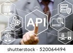 businessman touched api acronym ... | Shutterstock . vector #520064494