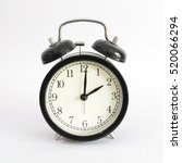 alarm clock setting at 2 am or... | Shutterstock . vector #520066294