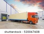 truck in unloading in warehouse | Shutterstock . vector #520067608