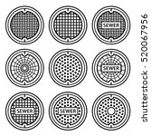 Manhole Sewer Cover Black...