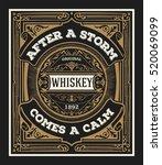 vintage design for labels.... | Shutterstock .eps vector #520069099