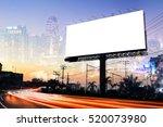 double exposure of blank... | Shutterstock . vector #520073980