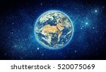 earth and galaxy. elements of... | Shutterstock . vector #520075069