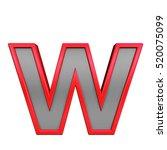 one lower case letter from gray ... | Shutterstock . vector #520075099