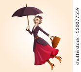 marry poppins a novel character ... | Shutterstock .eps vector #520077559