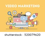 video marketing concept.... | Shutterstock .eps vector #520079620