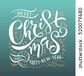 merry christmas logotype ... | Shutterstock .eps vector #520079680