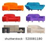 illustration of sofa set in... | Shutterstock .eps vector #520081180