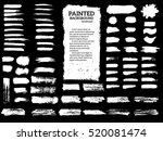 painted grunge stripes set.... | Shutterstock .eps vector #520081474