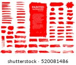 painted grunge stripes set. red ... | Shutterstock .eps vector #520081486