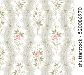 seamless floral pattern with... | Shutterstock .eps vector #520086970