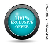 100  exclusive offer icon. 100  ... | Shutterstock . vector #520087960