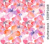 watercolor floral background... | Shutterstock . vector #520091668