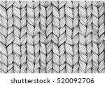 knitting braids seamless... | Shutterstock .eps vector #520092706