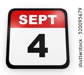 september 4. calendar on white... | Shutterstock . vector #520095679
