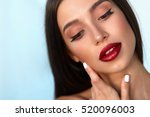 fashion makeup model girl.... | Shutterstock . vector #520096003