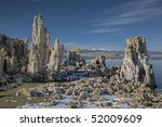 Winter Landscape Of Mono Lake...