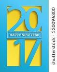 modern happy new year 2017... | Shutterstock .eps vector #520096300