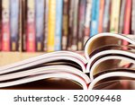close up stacking of opened... | Shutterstock . vector #520096468