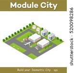 isometric 3d city airport with... | Shutterstock .eps vector #520098286