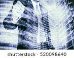 digital business revolution... | Shutterstock . vector #520098640