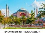hagia sophia museum  istanbul ... | Shutterstock . vector #520098874