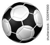soccer ball  isolated on white... | Shutterstock . vector #520099000