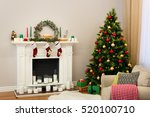 A New Year Decorated House Wit...