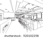 interior outline sketch drawing ... | Shutterstock .eps vector #520102258
