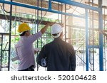 engineer and architect working... | Shutterstock . vector #520104628