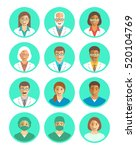 hospital staff flat simple... | Shutterstock . vector #520104769