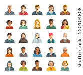 people faces avatars icons.... | Shutterstock . vector #520104808
