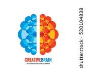 human brain   vector logo... | Shutterstock .eps vector #520104838