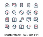 help and support. set of thin... | Shutterstock .eps vector #520105144