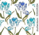 pattern with tulips.seamless... | Shutterstock .eps vector #520105204
