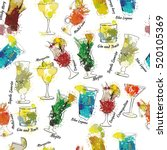 vector illustration of seamless ... | Shutterstock .eps vector #520105369