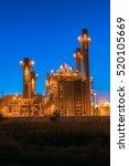 gas turbine electrical power... | Shutterstock . vector #520105669