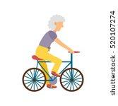 illustration with cartoon flat... | Shutterstock . vector #520107274