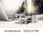 double exposure of... | Shutterstock . vector #520111738