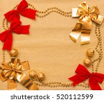 new year and christmas... | Shutterstock . vector #520112599