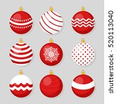 red christmas hanging ball... | Shutterstock .eps vector #520113040